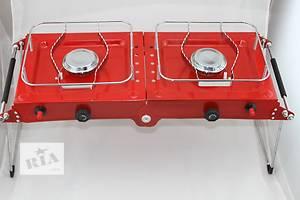Двойная газовая плита складная Alocs
