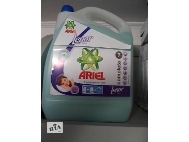 купить бу Жидкий порошок для стирки универсал Ariel+Lenor 9 л. в Виннице