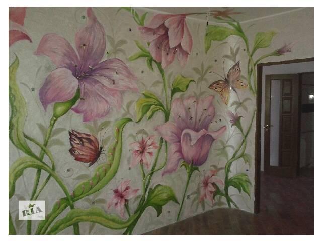 Гипсокартонные и натяжные потолки, венецианская шпаклевка и художественная роспись.- объявление о продаже  в Виннице