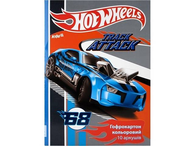продам Гофрокартон цветной (10 листов/10 цветов), A4 Hot Wheels (HW14-256K) бу в Киеве