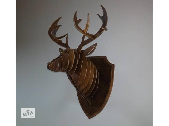 купить бу Голова оленя из фанеры, трофей, оформление интерьера. Отличный подарок! в Донецке