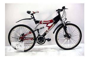 Горный двухподвесной велосипед Торнадо 26д ( диск.торм) SHIMANO Есть 24 колеса для подростка