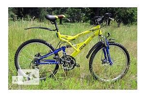 Горный велосипед Azimut Rock 26 GD. Сине-желтый патриотичный