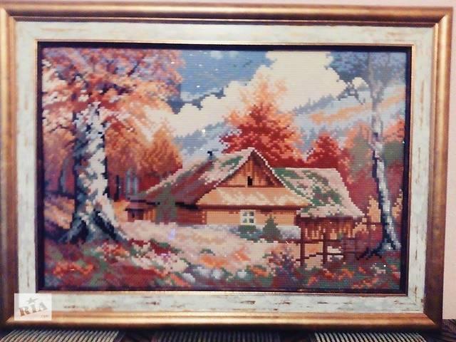 """продам Готовая картина в технике алмазная вышивка """" Осень"""" бу в Кременчуге"""