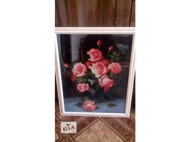 """продам Готовая картина  в технике алмазная вышивка """" Розы"""" бу в Кременчуге"""