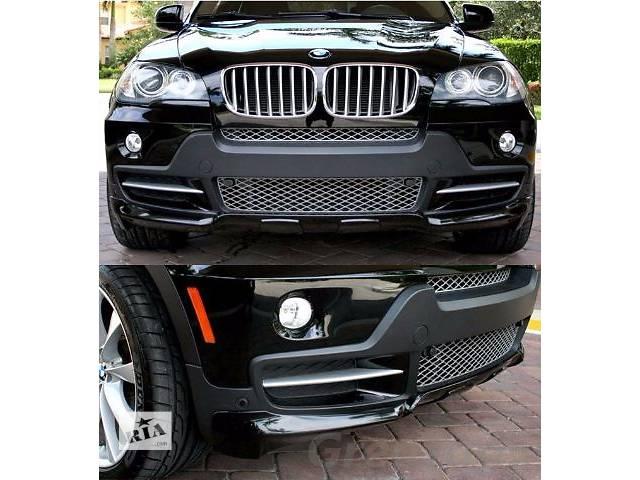 купить бу Губа накладка на передний бампер обвес BMW X5 E70 стиль Performance БМВ Х5 Е70 в Луцке