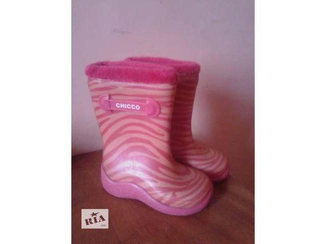 купить бу Резиновые утепленные сапожки для девочки в Львове