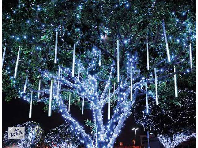 бу Гирлянда на деревья, падающий снег, светодиодные гирлянды для деревьев, монтаж гирлянд в Киеве