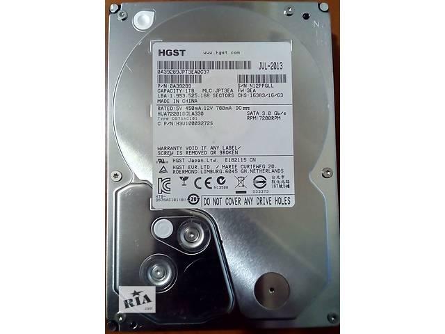 бу HDD 1Tb Hitachi 7200 Sata 3 Гарантия в Кременчуге