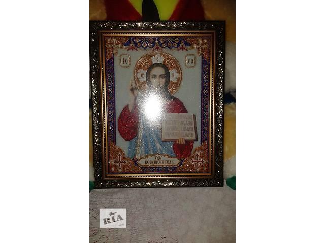 купить бу икона из бисера в рамке под стеклом в Тростянце (Винницкой обл.)