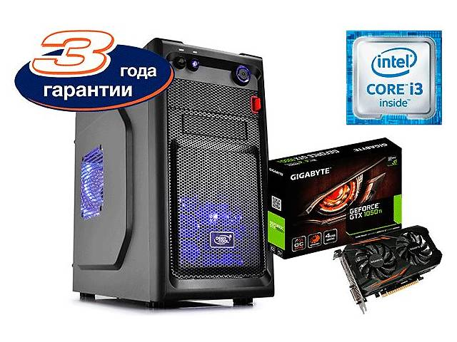 купить бу Intel Core i3-6100 / GeForce GTX 1050 Ti 4GB / 8GB DDR4 ОЗУ / 500W 80+ в Днепре (Днепропетровск)