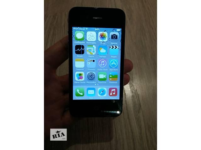 купить бу Iphone 4 32Gb неверлок. Чек, гарантия, полный комплект в Киеве