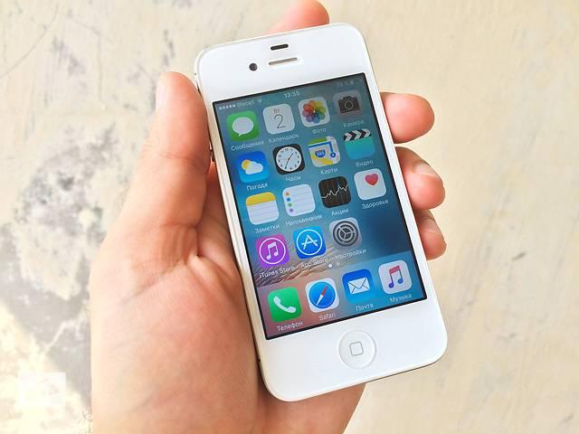 iPhone 4S 32GB White Neverlock отличное состояние!- объявление о продаже  в Каменском (Днепродзержинске)