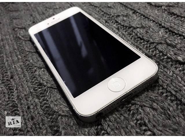 купить бу iPhone 5 16 Gb White Neverlock в Харькове