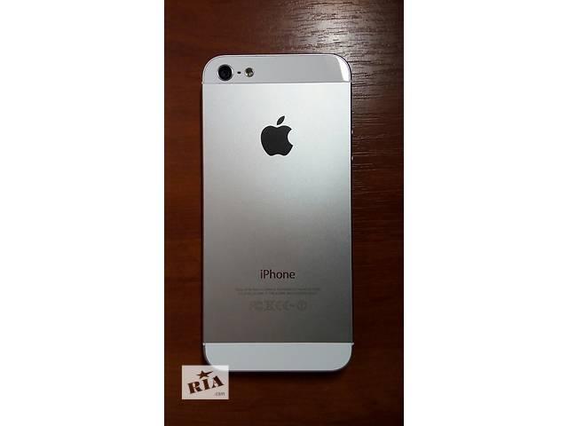 купить бу IPhone 5, 16GB Neverlock Silver (серый) недорого! продам срочно! в Виннице