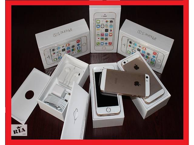 купить бу iPhone 5s16Gb все цвета  [NEW в заводской плёнке]оригинал 100% NEVERLOCK  (без аванса (+подар. стекло айфон в Хмельницком