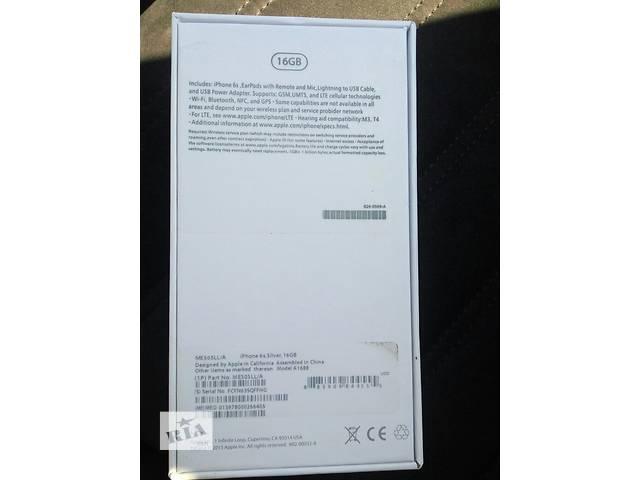 Iphone 6s white 16 gb лучшая копия.4 ядра, рабочий touch id- объявление о продаже  в Березному