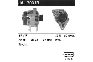 Новые Генераторы/щетки Toyota Rav 4