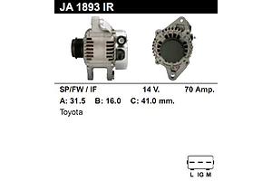 Новые Генераторы/щетки Toyota Yaris
