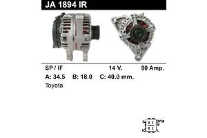 Новые Генераторы/щетки Toyota Corolla