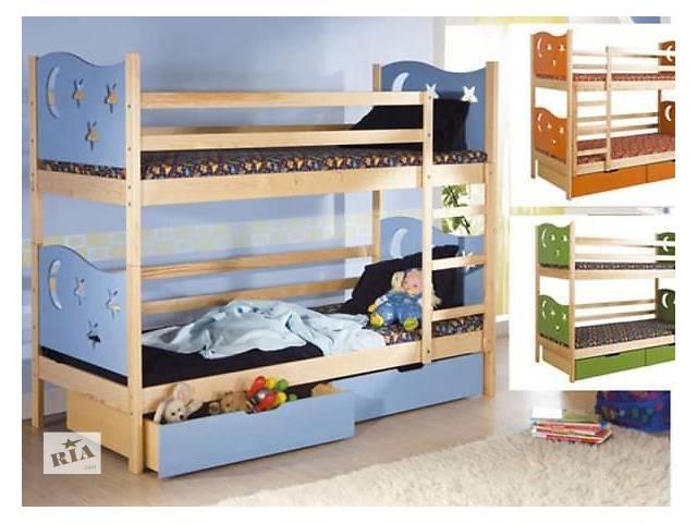 продам трансформер: двухъярусная кровать из массива сосны - Ярек, (качество гарантировано)! бу в Киеве