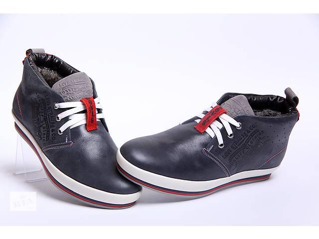 Качественные зимние ботинки Levis 34-03 синие из натуральной кожи- объявление о продаже  в Вознесенске