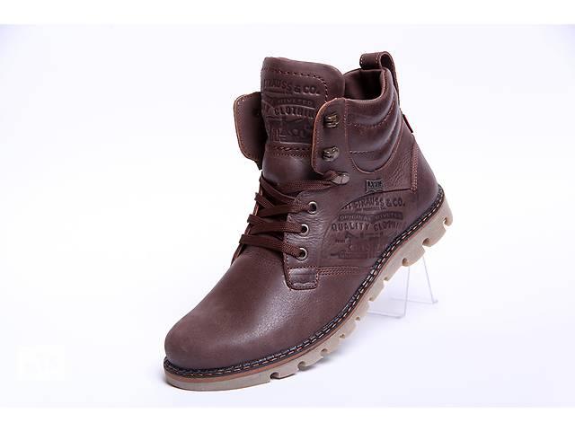 бу Качественные зимние кожаные мужские ботинки Levis Б 25-04 в Вознесенске
