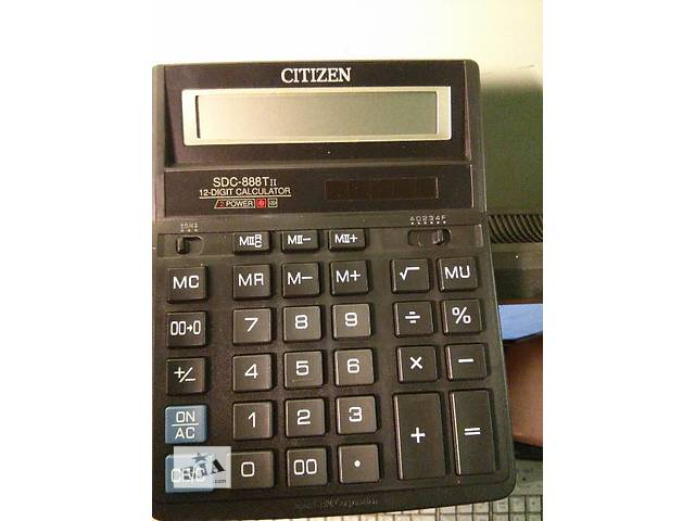 купить бу Калькулятор электронный 12-разрядный Citizen SDC-888TII в Киеве