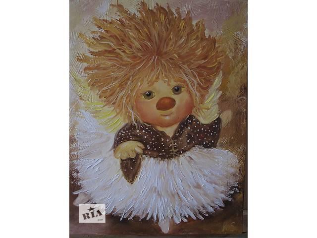 купить бу Картина Ангел балерина, холст, масло, 35 на 45 см в Киеве
