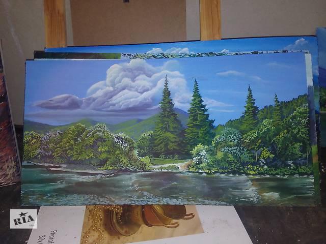 продам Картина фанера Синевирское озеро и природа на гора размер 32. 62 бу в Ужгороде