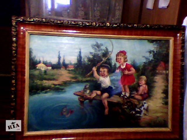 картина холст масло середина прошлого века- объявление о продаже  в Запорожье
