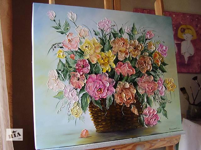 "картина маслом ""Букет троянд"" 50х60- объявление о продаже  в Ровно"