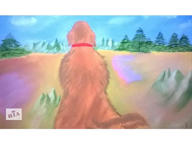 Картина маслом для дома (Персиковый пес)- объявление о продаже  в Киеве
