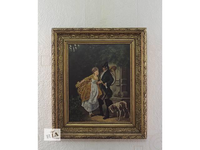 бу Картина маслом по дереву, Франция 1880-й год в Каменском (Днепропетровской обл.) (Днепродзержинск)