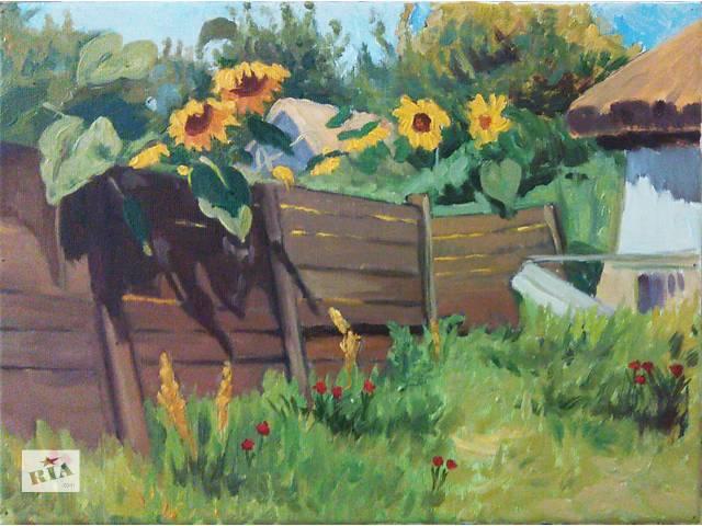 купить бу Картина маслом «Подсолнухи» в Харькове