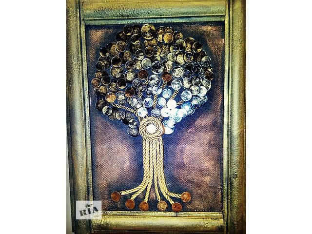 бу Картина панно денежное дерево из монет в Херсоне