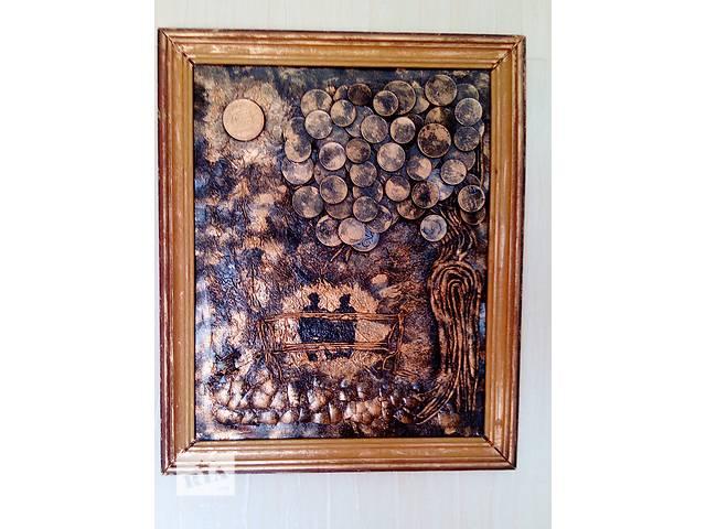 Картина панно из монет Двое под луной- объявление о продаже  в Херсоне