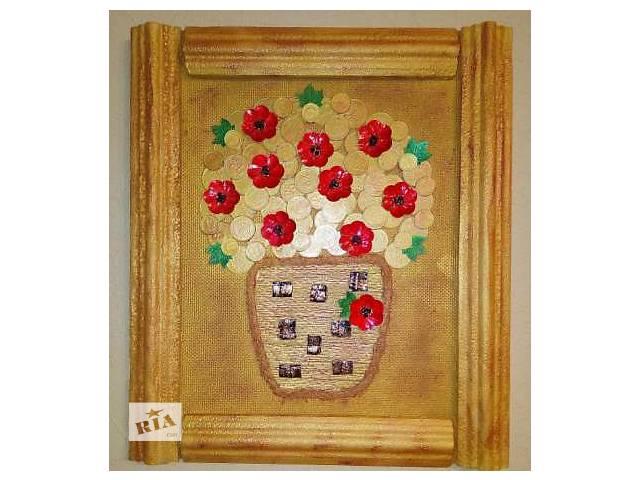 купить бу Картина цветы в горшке в Херсоне