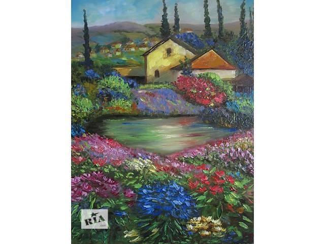 бу Картина Весна в Тоскане, холст, масло, 30 на 40 см в Киеве