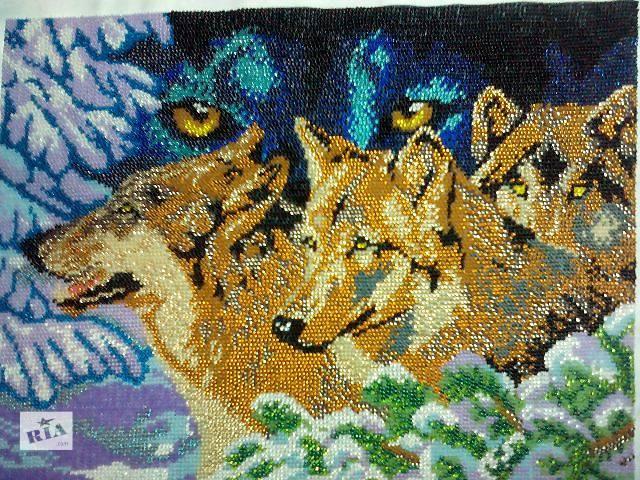 купить бу Картина вышитая бисером в Запорожье