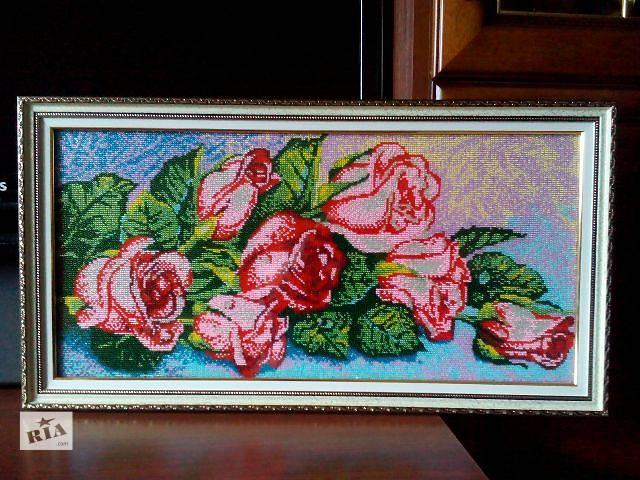 продам картина вышитая бисером бу в Запорожье