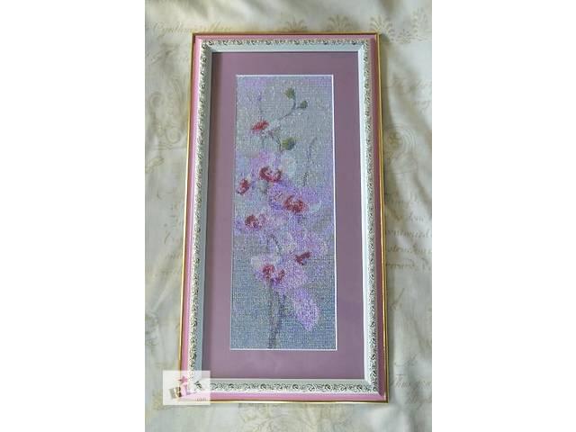 купить бу Картина вышивка Орхидеи в Киеве