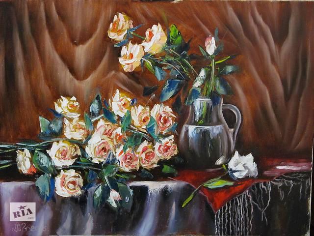 бу картина,желтые розы в Ивано-Франковске