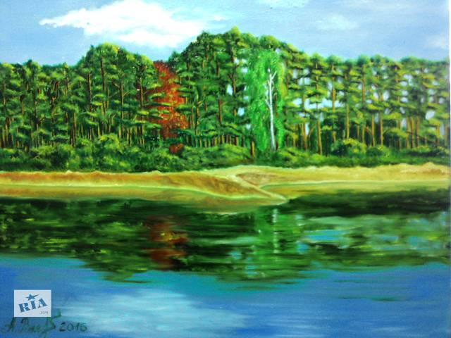 продам картина маслом Голубое озеро бу в Киеве