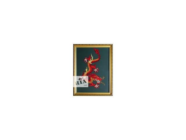 """купить бу Картина """"Огненный Дракон"""" с кристаллами Сваровски в Киеве"""