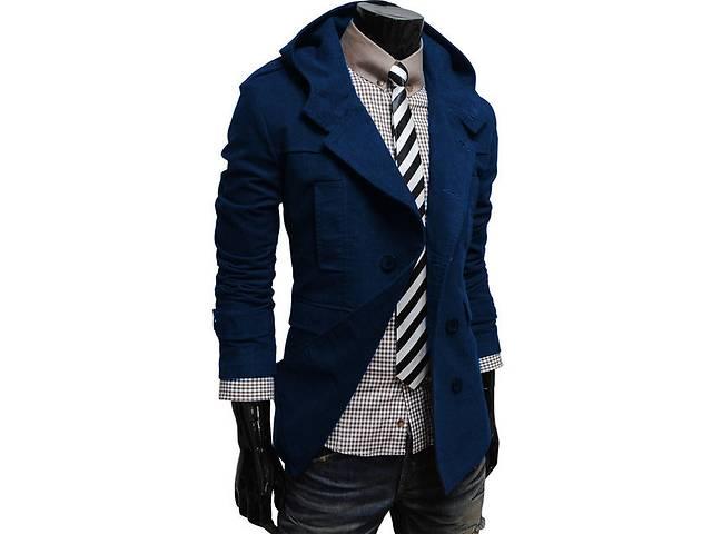 купить бу Кашемировое пальто тёмно-синего цвета в Черкассах