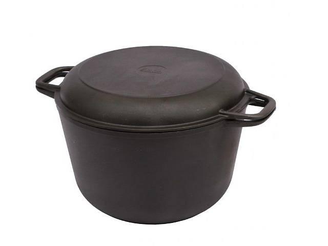 Кастрюля чугунная с крышкой – сковородкой 3л. 220мм.- объявление о продаже  в Запорожье