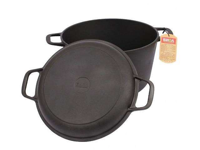 продам Кастрюля чугунная с крышкой – сковородкой 6л. 260мм бу в Запорожье