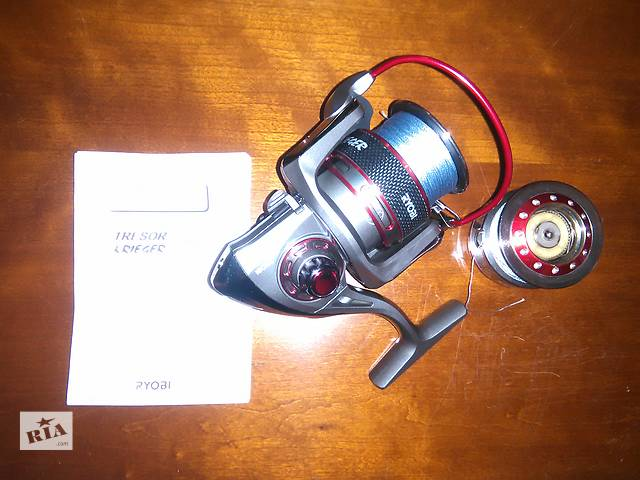 Катушка Ryobi Krieger 4000 + Запасная шпуля + 2 Шнура х4, 100м, 0,13мм- объявление о продаже  в Сумах
