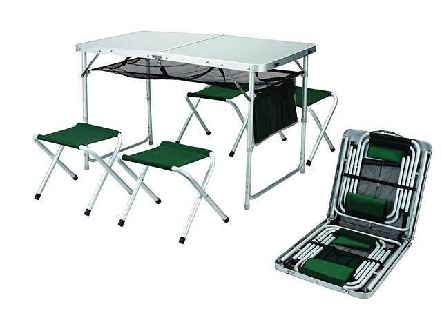 купить бу Кемпинговая мебель. Столы туристические + 4 стула. Набор мебели. новый  в Виннице